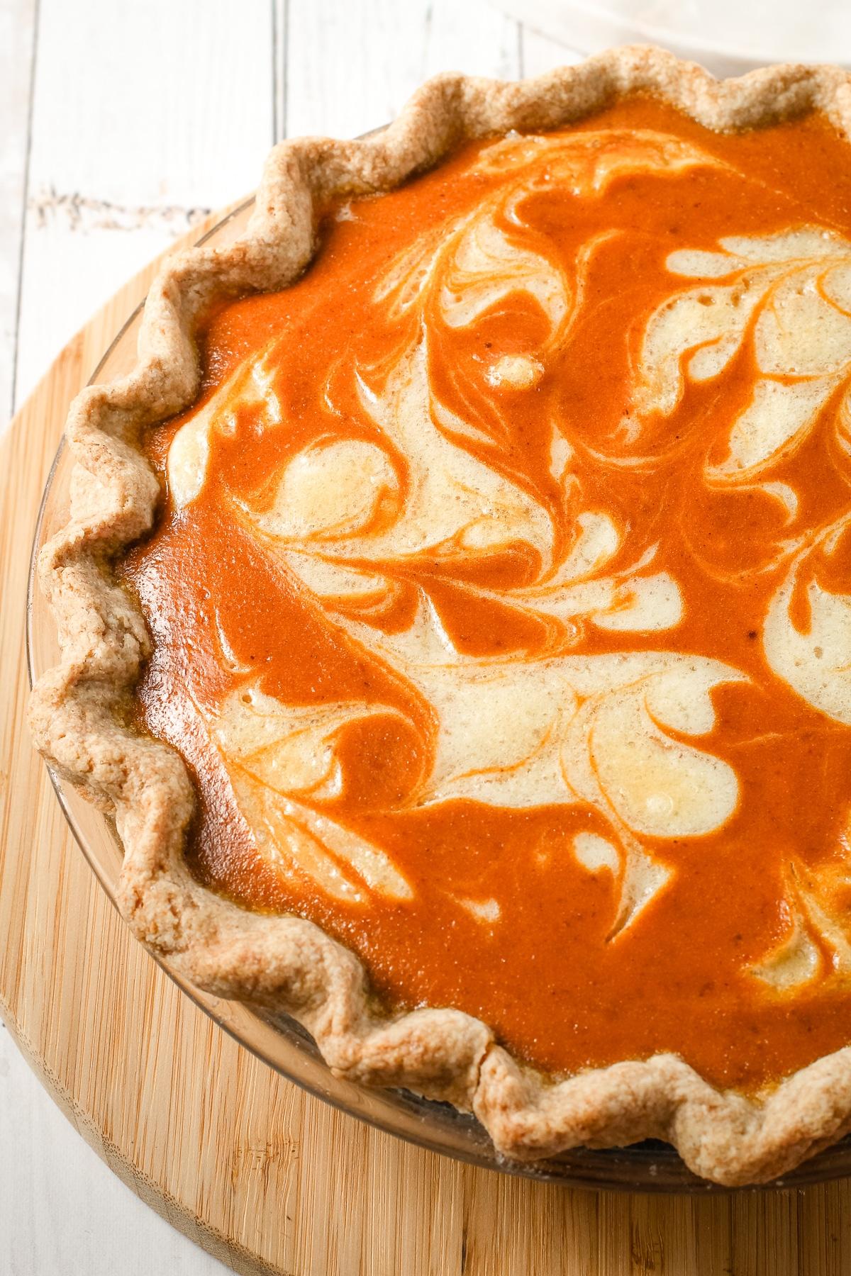 thanksgiving pie pumpkin mascarpone