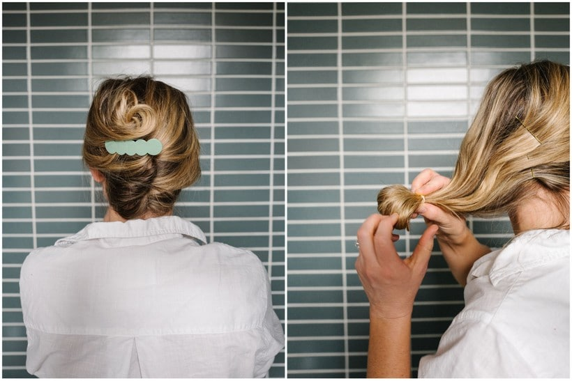 3 Minute Hairstyles How To Do A Modern French Twist The Effortless Chic