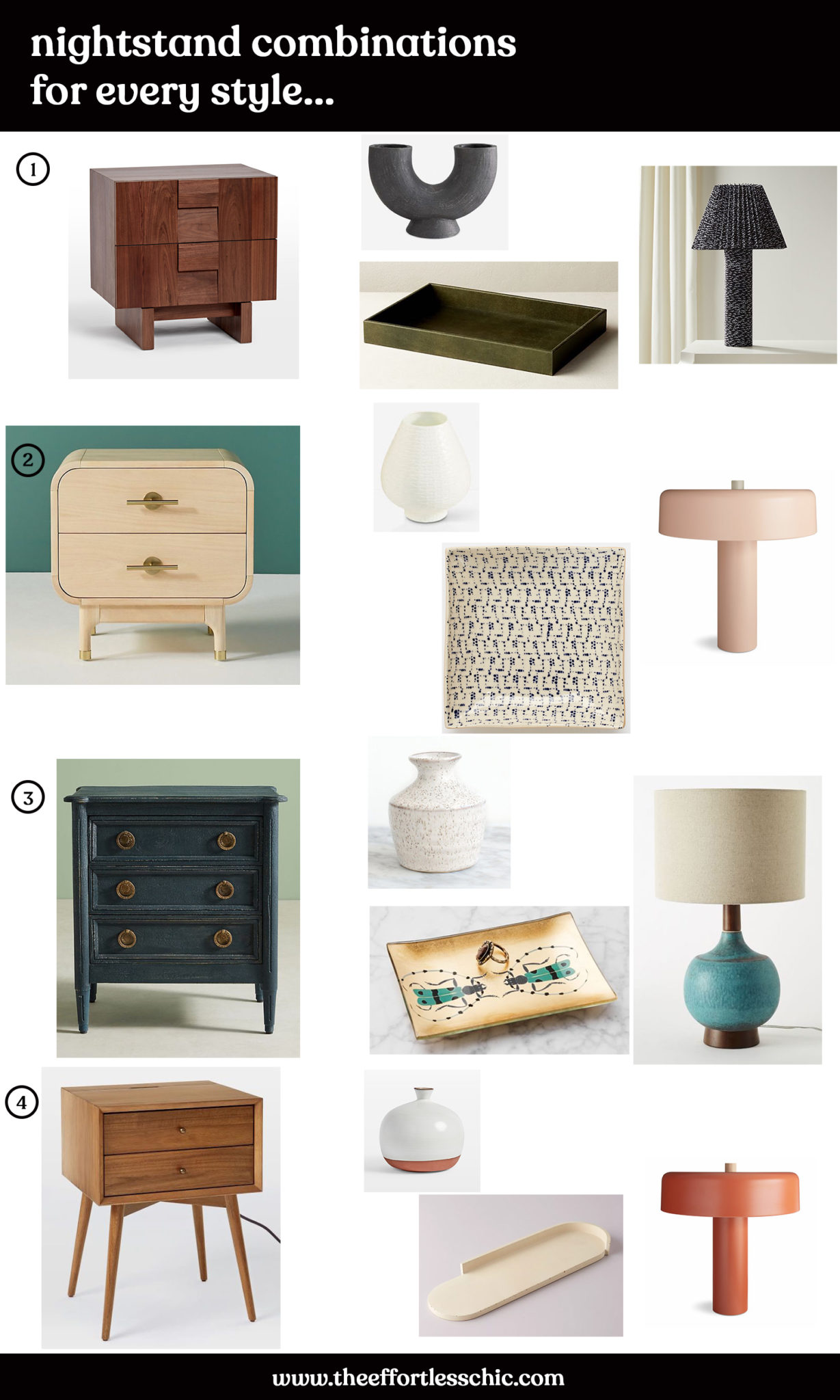 Nightstand Decor The Best Nightstands Table Lamps And More