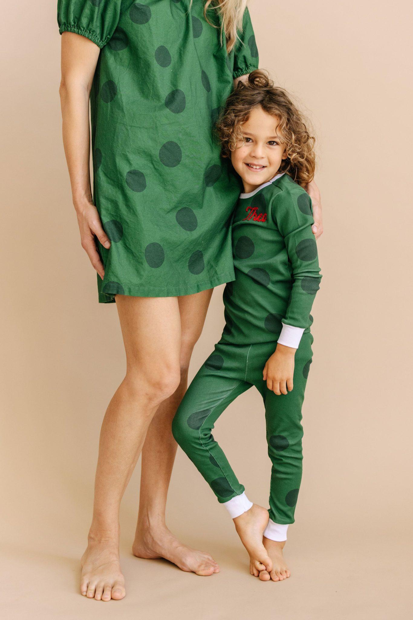 Matching Mom and Kid Christmas Pajamas